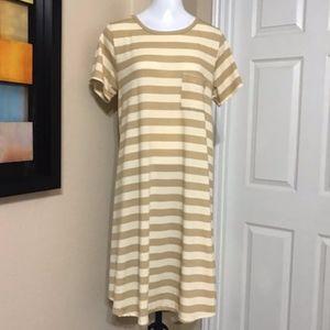 NWOT LulaRoe Stripe dress Size Medium